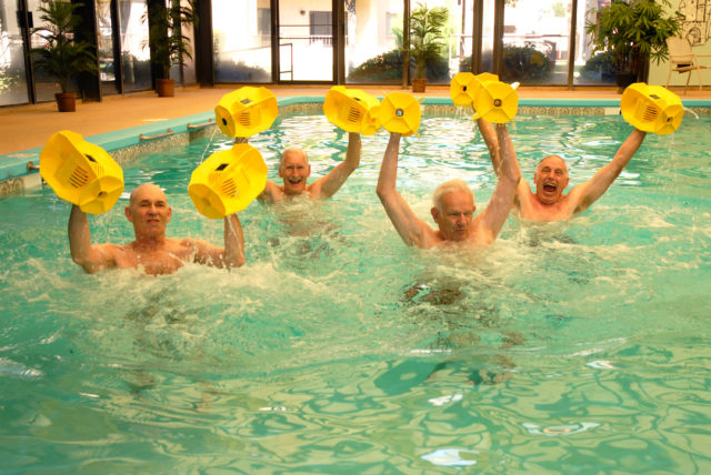 Residents Doing Swimming Exercises