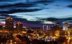 Albuquerque Downtown at Dusk