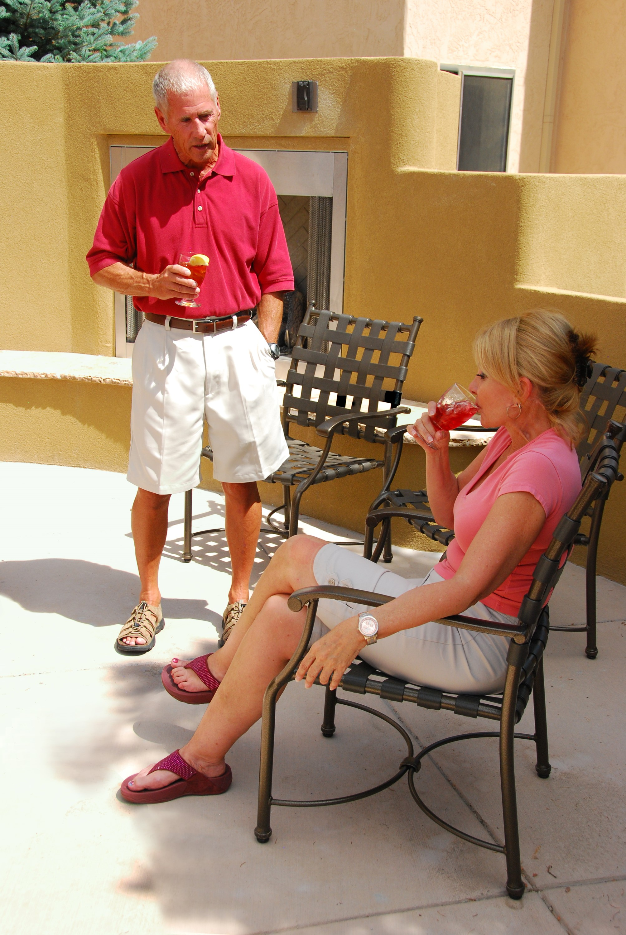 Couple on Patio
