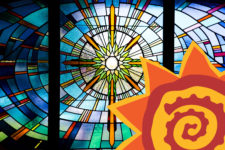 Stained Glass Window at La Vida Llena